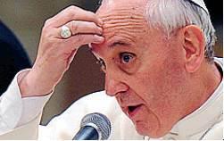 la preoccupazione del papa